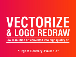 Convert low resolution logo/Image into high resolution vector
