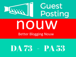 Write and Publish Permanent Guest Post On Nouw, Nouw.com DA73