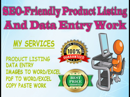 DO SEO FRIENDLY PRODUCT LISTING ON YOUR E-COMMERCE SITES