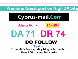 Guest Post on Cyprus Mail - Cyprus Mail com DA 71 Dofollow Link