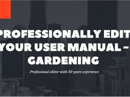 Professionally edit your gardening user manual
