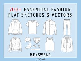 Sell fashion CAD technical drawings menswear set