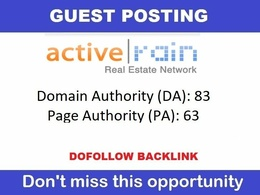 Publish Guest Post On DA83 Real Estate Dofollow Site