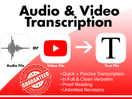 Transcribe 30 min audio, video,podcast and recordings to text