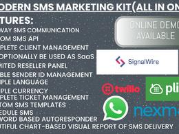 Set up twilio, plivo, signalwire for bulk sms and autoresponder