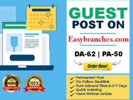Write and publish Quality Guest Post On Easybranches. com DA- 62
