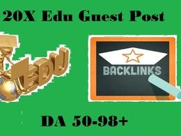 Get you 30X Edu Guest Post On DA50-97+ High Authority Edu Blog