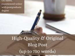 Write an engaging, informative blog post for your business