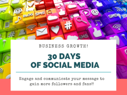 Create a 30 day social media only marketing plan - bespoke