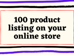 Add 20 products and SEO product description to Online store