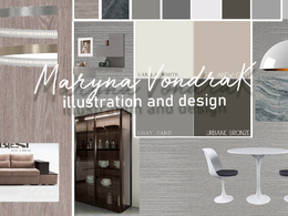 Create a concept design for any space + Mood Board /Color Scheme