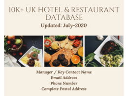 Provide you 10k+ UK Hotel & Restaurants with Key Contact Details
