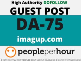 Publish a Guest Post on imagup/imagup.com DA 75