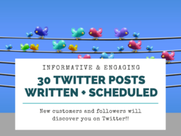 Write & schedule 30 Twitter tweets to promote your business
