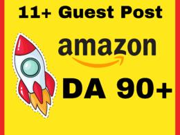11 Guest-Post AMAZON DA 96 Do-Follow Backlinks - 100% WhiteHat