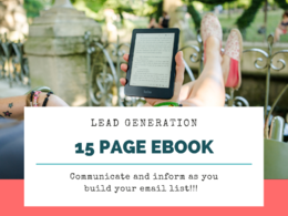 Create an engaging 15 page ebook or report