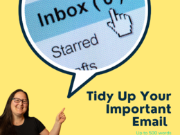 Tidy up your important email or complaint letter