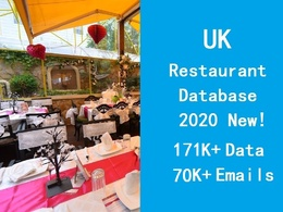 Provide UK restaurant database include email phone contact