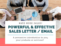 Write a dynamic sales letter that packs a punch