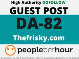 Publish Guest Post on thefrisky/thefrisky.com DA 82