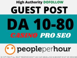 Publish a Casino/Gambling Guest Post DA10 to DA80