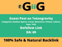 Publish Guest Post on Tetongravity.com DA 70 Dofollow Backlink