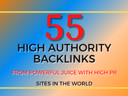 Manual 55 High Authority Backlinks for Google Ranking