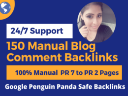 Do 150 manual dofollow blog comments links on high DA sites