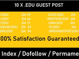 Write and publish 10 Posts on High Quality .EDU sites - DA50+