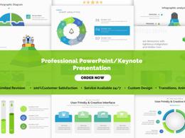 Design branded Powerpoint / Keynote / Prezi presentation 24 hour