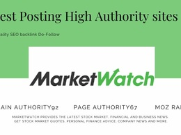 Publish a guest post with Do-follow link on MarketWatch DA92