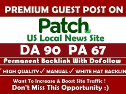Guest Post in US Local News Site Patch. com With FREE Content