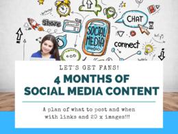 Create a 4 month social media content strategy plan calendar