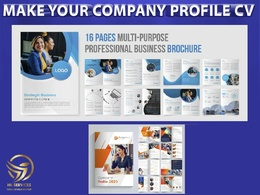Design company profile, brochure or catalog 24 pages