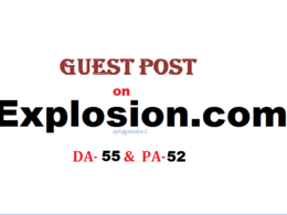 Able to publish content on Explosion.com (DA-45, PA-52)