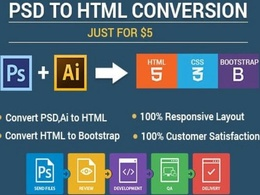 Convert PSD to Html fully responsive with all devices