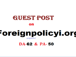 Able to publish content on Foreignpolicyi.org (DA-62) Dofollow