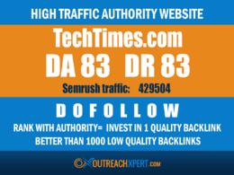 Guest post on Techtimes -- Techtimes.com -- DA 82 DR 83
