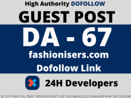Publish a guest post on fashionisers/fashionisers.com – DA 67