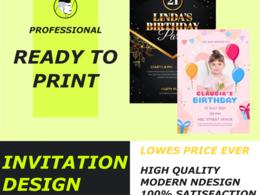 Design a unique event Flyer and invitation
