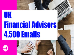 UK Financial Advisors Email list, 4K Email Addresses Database