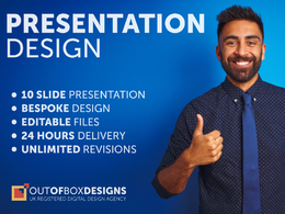 Design a PDF, powerpoint or keynote slide deck presentation