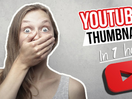 Design 3 catchy creative youtube thumbnail in 1 hour