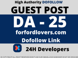 Publish Guest post on forfordlovers/forfordlovers.com  DA 25
