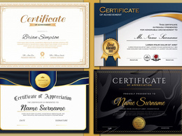 Design a professional award or a diploma certificate