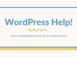 Fix WordPress Errors, Bugs, Issues, Problems, Customization