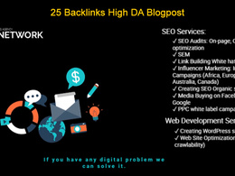 25 Backlinks High DA Blog Posts