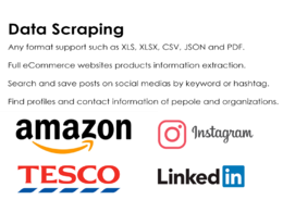 Do data scraping and data mining for various information