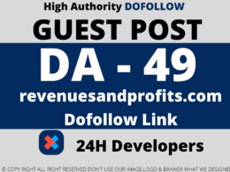 Publish Guest Post on revenuesandprofits.com DA 49