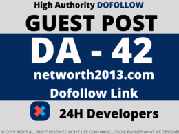 Publish Guest post on networth2013/networth2013.com  DA 42